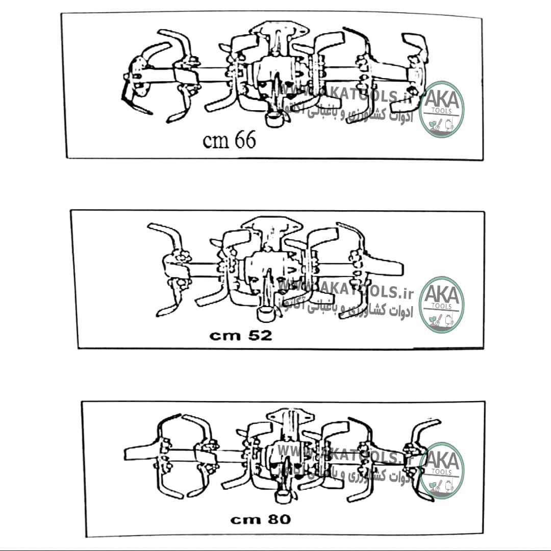 روتیواتور تراکتور دوچرخ